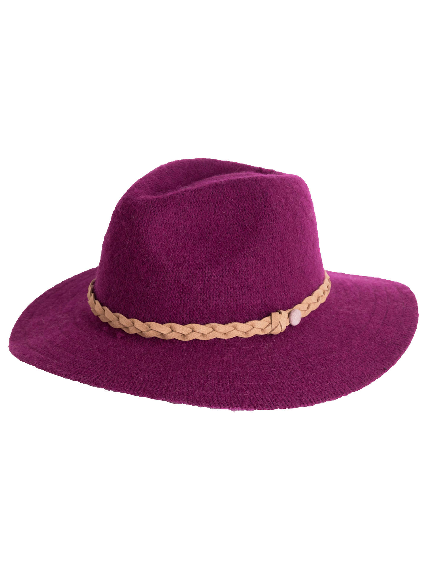 BuyPowder Katie Wool Blend Trilby Hat, Magenta Online at johnlewis.com