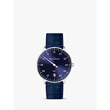 Buy MeisterSinger NE908N-SGF14 Unisex Neo Automatic Date Leather Strap Watch, Dark Blue Online at johnlewis.com