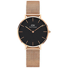 Buy Daniel Wellington Women's Petite Mesh Bracelet Strap Watch Online at johnlewis.com