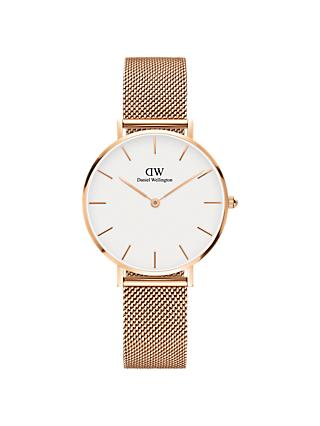 Daniel Wellington Women's Petite Mesh Bracelet Strap Watch