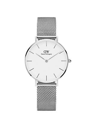 Daniel Wellington Women's 32mm Petite Mesh Bracelet Strap Watch