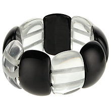 Buy Jackie Brazil Maria Oval Bracelet, Black/Clear Online at johnlewis.com