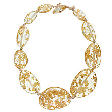Buy Jackie Brazil Riverstone Gold Flake Short Necklace, Gold Online at johnlewis.com