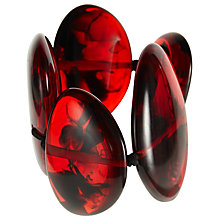 Buy Jackie Brazil Tortoise Large Flat Riverstone Bracelet, Dark Red Online at johnlewis.com