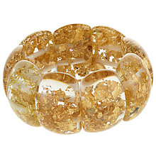 Buy Jackie Brazil Maria Oval Flakes Bracelet, Gold Online at johnlewis.com