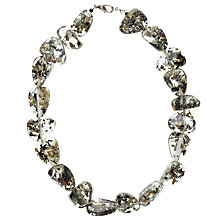 Buy Jackie Brazil Short Indiana Necklace, Clear/Seaweed Online at johnlewis.com