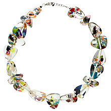 Buy Jackie Brazil Flintstone Cascade Necklace, Multi Online at johnlewis.com