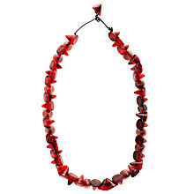 Buy Jackie Brazil Tortoise Short Cones Necklace, Dark Red Online at johnlewis.com