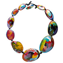 Buy Jackie Brazil Kandinsky Short Flat Riverstone Necklace, Multi Online at johnlewis.com