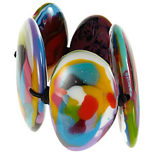 Buy Jackie Brazil Kandinsky Large Flat Riverstone Stretch Bracelet, Multi Online at johnlewis.com