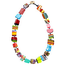 Buy Jackie Brazil Mixed Pop Art Long Necklace, Multi Online at johnlewis.com