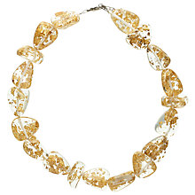 Buy Jackie Brazil Flintstone Flakes Necklace, Gold Online at johnlewis.com