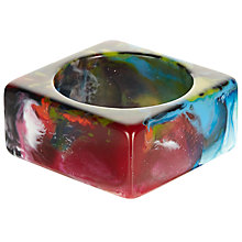 Buy Jackie Brazil Kandinsky Solid Resin Square Bangle, Multi Online at johnlewis.com