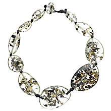 Buy Jackie Brazil Flintstone Seaweed Necklace, Clear Online at johnlewis.com