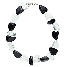 Buy Jackie Brazil Flintstone Necklace, Black/Clear Online at johnlewis.com