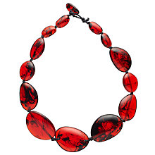 Buy Jackie Brazil Riverstone Tortoise Long Necklace, Red Online at johnlewis.com