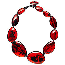 Buy Jackie Brazil Riverstone Tortoise Short Necklace, Red Online at johnlewis.com