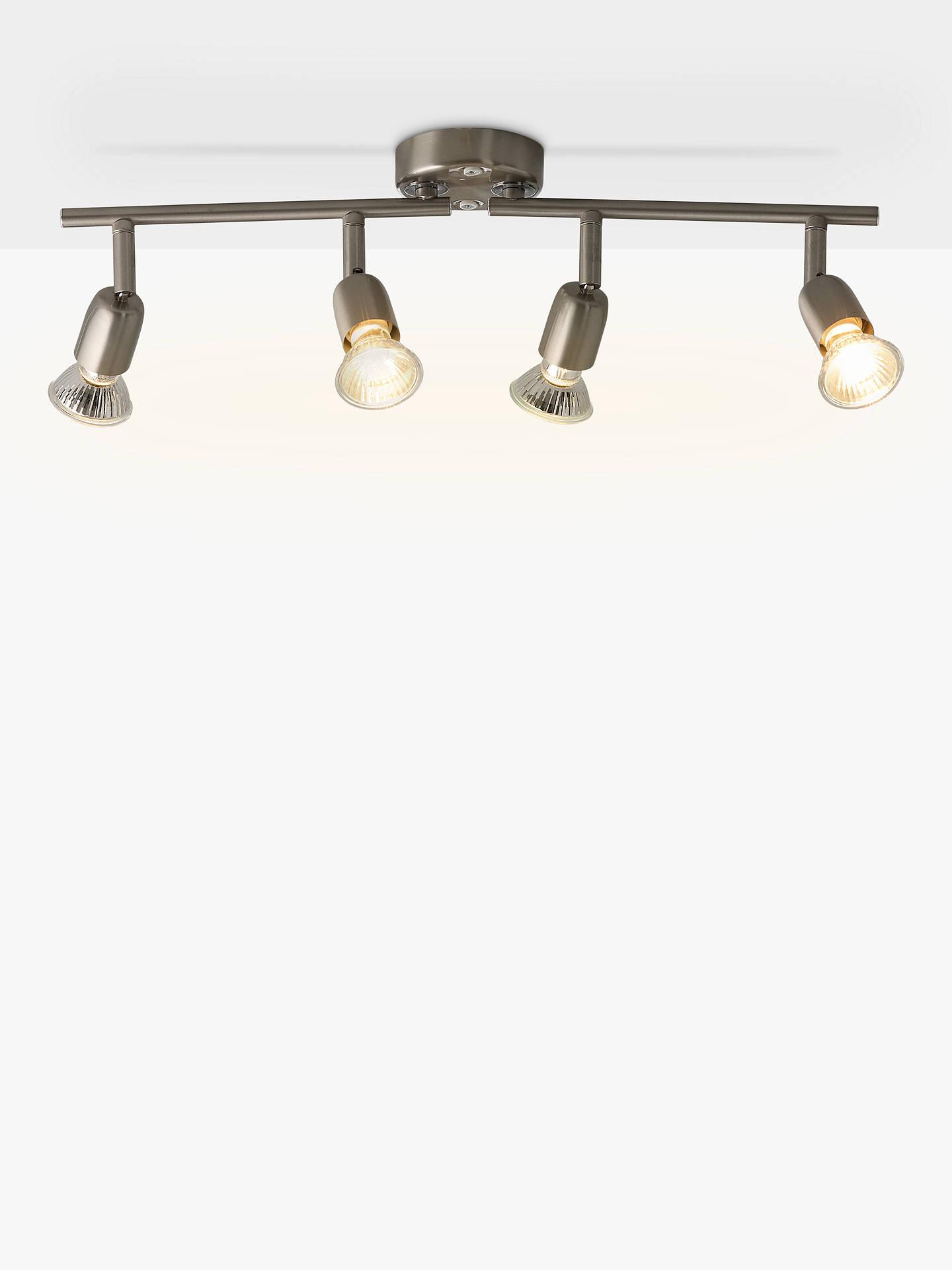 size 40 5ac76 17289 House by John Lewis 4 Spotlight Ceiling Bar, Brushed Chrome