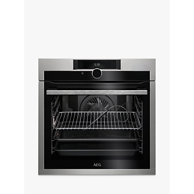 Image of AEG BPE842720M Built-In Single Oven, Stainless Steel