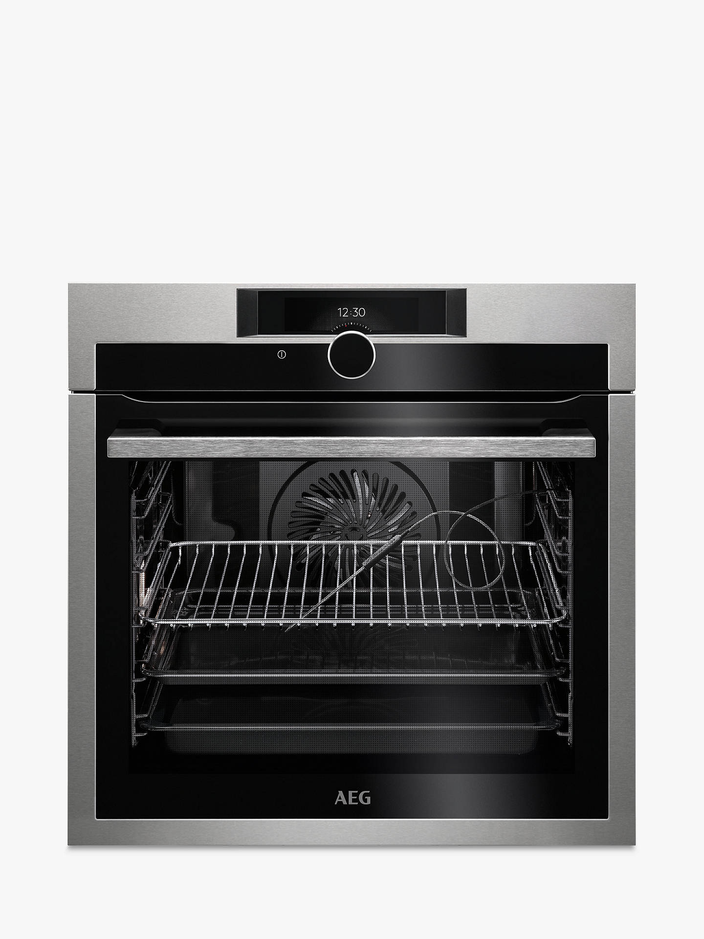 BuyAEG BPE842720M Built-In Single Oven, Stainless Steel Online at johnlewis.com