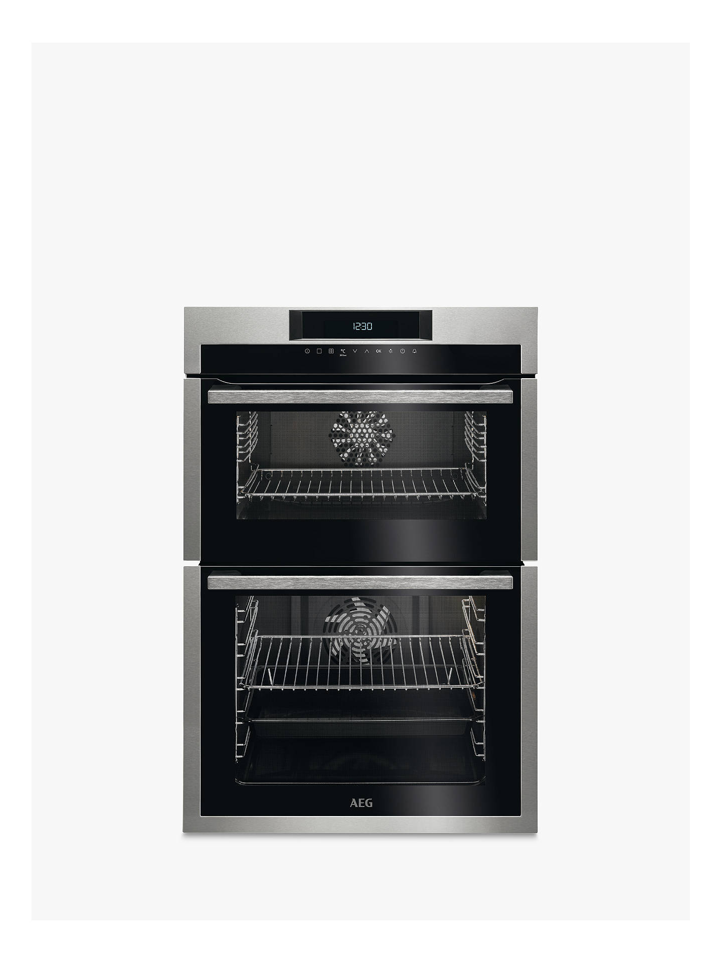 aeg dce731110m built in double oven stainless steel at. Black Bedroom Furniture Sets. Home Design Ideas