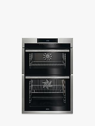 AEG DCE731110M Built-In Double Oven, Stainless Steel