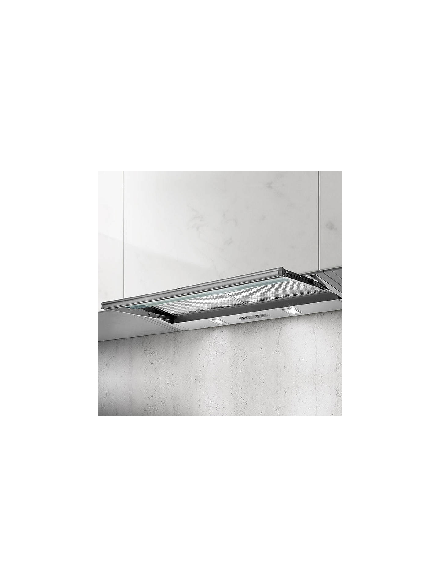 BuyElica SKLOCK LED 60 Integrated Telescopic Cooker Hood, Grey Online at johnlewis.com