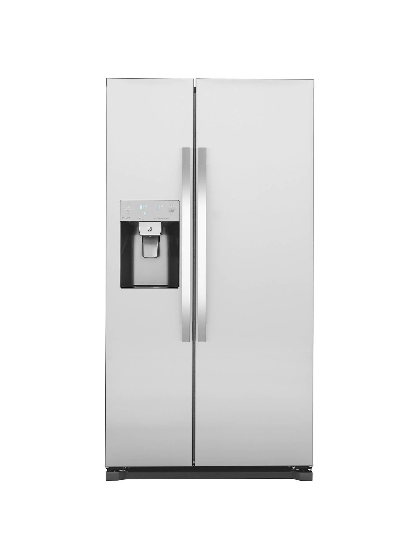 john lewis jlaffss2017 american style fridge freezer a. Black Bedroom Furniture Sets. Home Design Ideas