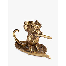 Buy John Lewis Deco Mouse Candle Holder, Brass Online at johnlewis.com