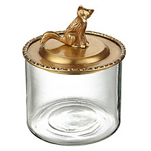 Buy John Lewis Deco Fox Sitting On Glass Box, Brass Online at johnlewis.com