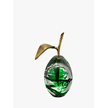 Buy John Lewis Decorative Glass Pear Ornament Online at johnlewis.com