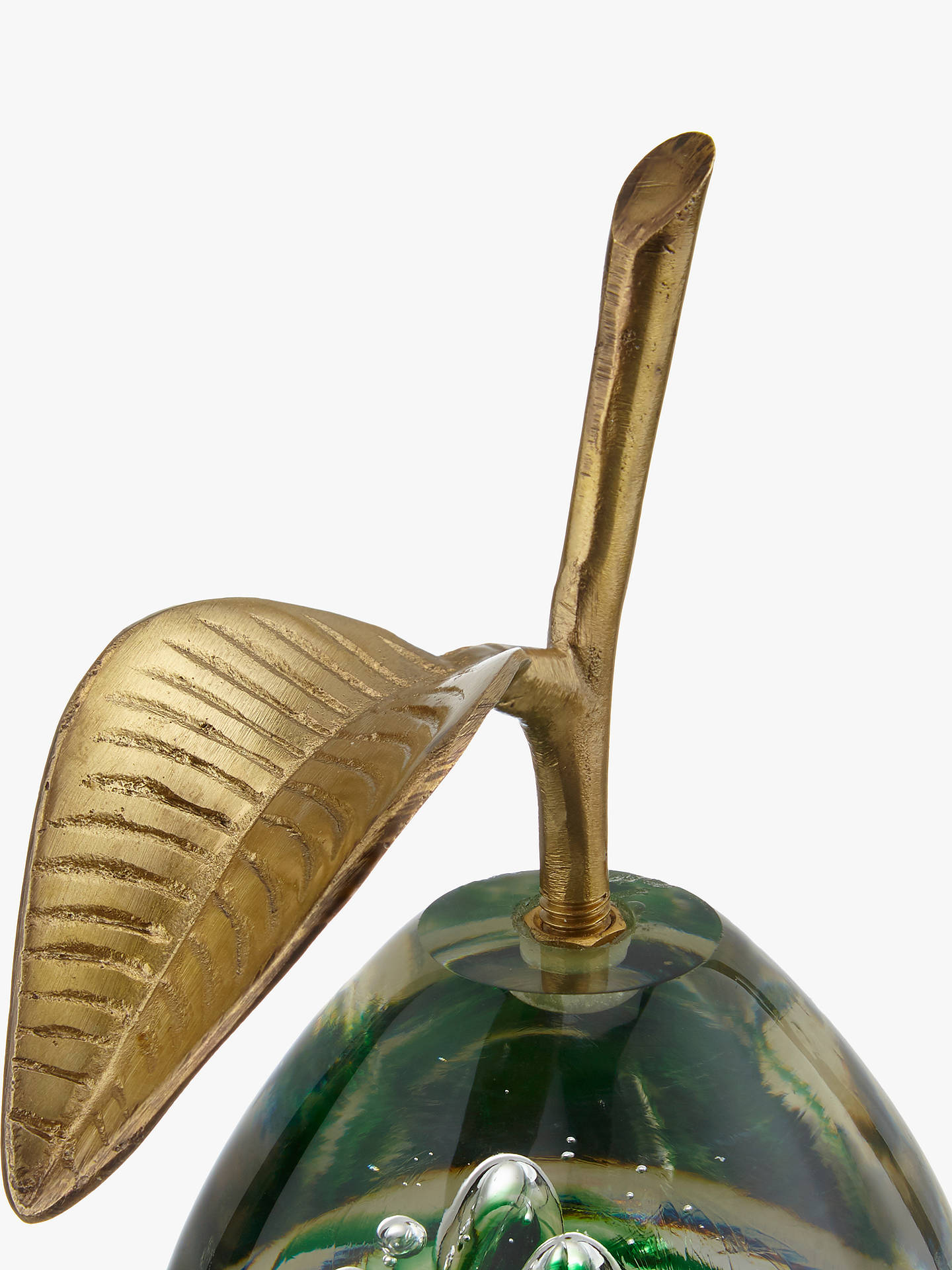 Buy John Lewis & Partners Decorative Glass Pear Ornament Online at johnlewis.com