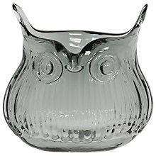 Buy Magpie Horatio Owl Pot Vase, Smoke Online at johnlewis.com