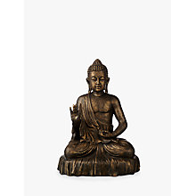 Buy John Lewis Fusion Sitting Buddha, Bronze Online at johnlewis.com