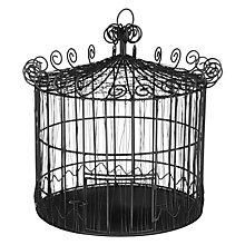 Buy John Lewis Boutique Hotel Woven Wire Cage, Black Online at johnlewis.com