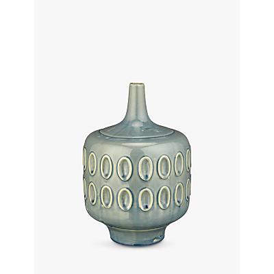 John Lewis Scandi Stoneware Squat Vase, Blue