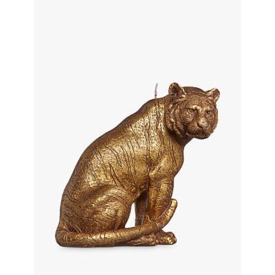 John Lewis Tiger Candle, Gold