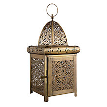 Buy John Lewis Fusion Etched Metal Lantern, Gold Online at johnlewis.com