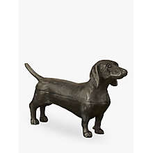 Buy John Lewis Deco Dachshund Dog Box, Brown Online at johnlewis.com