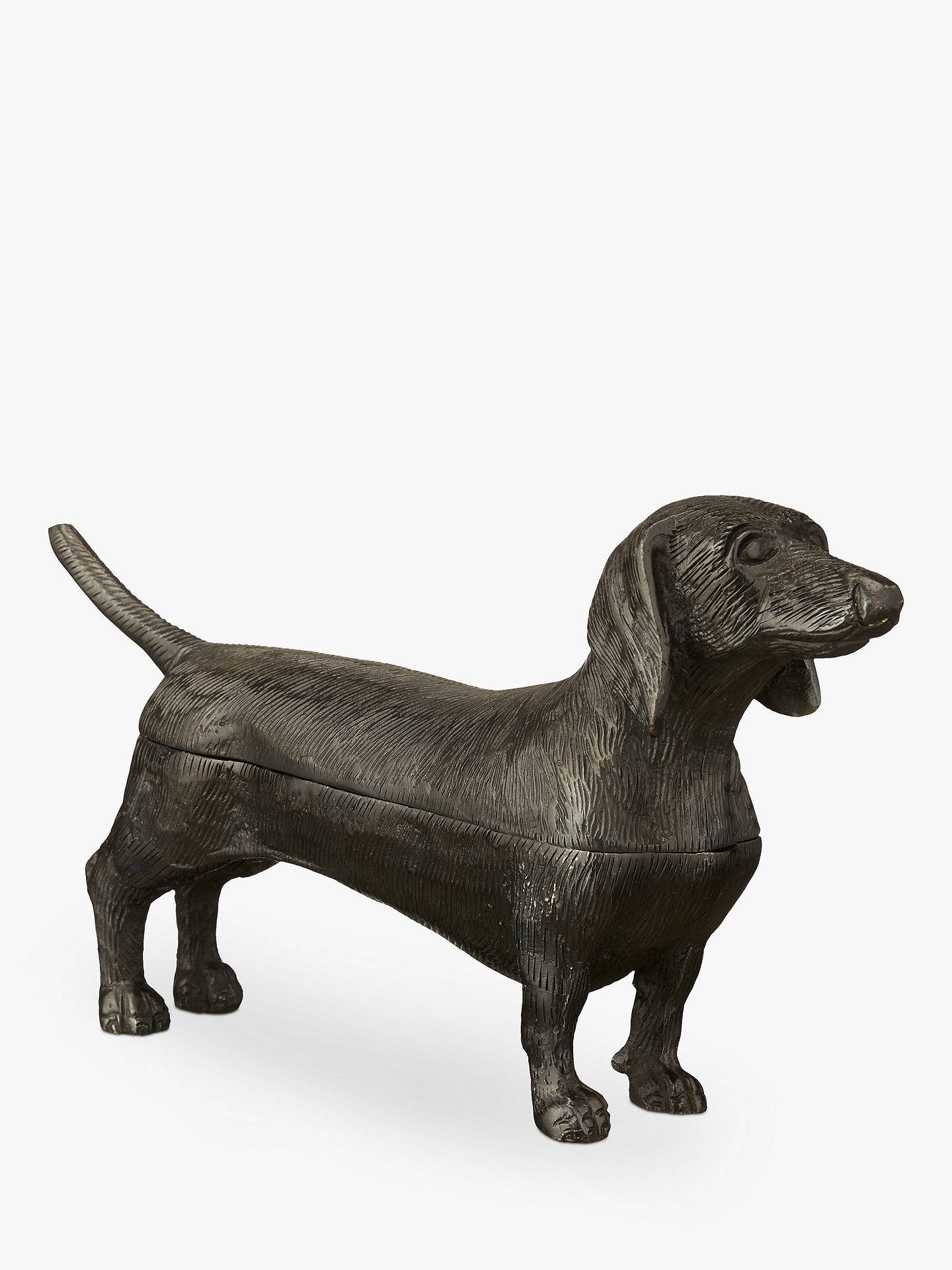 Buy John Lewis & Partners Deco Dachshund Dog Box, Brown Online at johnlewis.com