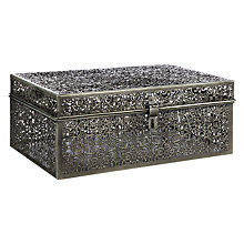 Buy John Lewis Fusion Etched And Embossed Metal Trunk, Pewter Online at johnlewis.com