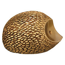 Buy John Lewis Deco Hedgehog Ornament, Brass Online at johnlewis.com
