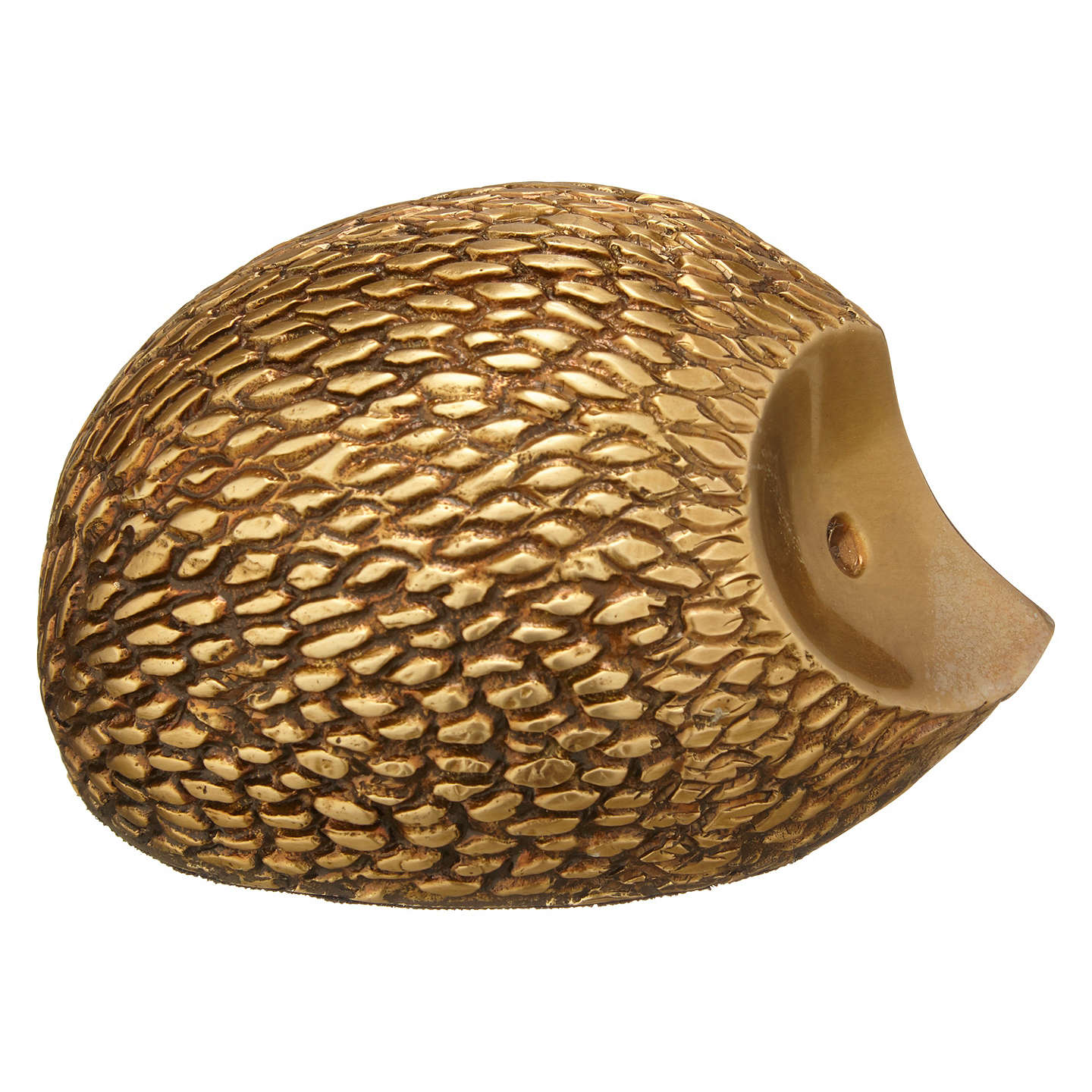 BuyJohn Lewis Deco Hedgehog Ornament, Brass Online at johnlewis.com