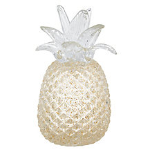 Buy John Lewis Hotel Glass Pineapple, Gold Online at johnlewis.com