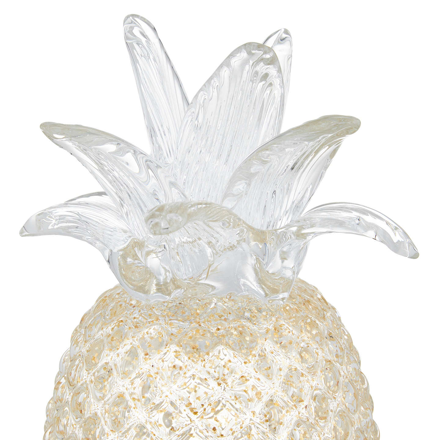 BuyJohn Lewis Hotel Glass Pineapple, Gold Online at johnlewis.com