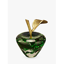 Buy John Lewis Decorative Glass Apple Ornament Online at johnlewis.com