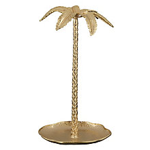 Buy John Lewis Hotel Palm Tree Jewellery Stand, Gold Online at johnlewis.com