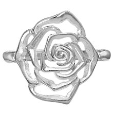 Buy Dower & Hall Wild Rose Flower Ring, Silver Online at johnlewis.com