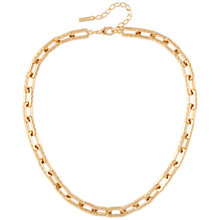 Buy Susan Caplan Vintage 1980s D'Orlan 22ct Gold Plated Rectangular Link Necklace, Gold Online at johnlewis.com