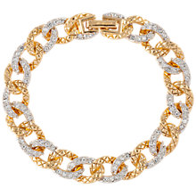 Buy Susan Caplan Vintage 1980s D'Orlan 22ct Gold Plated Swarovski Crystal Link Chain Bracelet, Gold/Clear Online at johnlewis.com